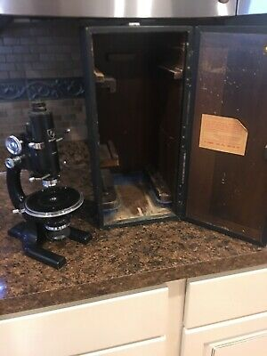 Antique AO Spencer Microscope Polarizing Petrographic Geological With Case