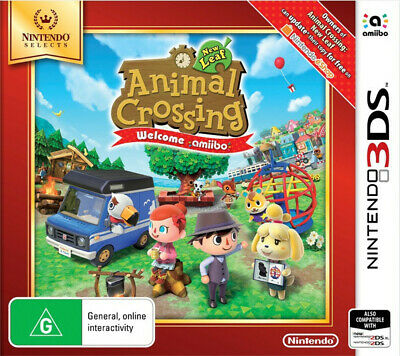 Nintendo Selects Animal Crossing New Leaf Welcome amiibo 3DS Game NEW