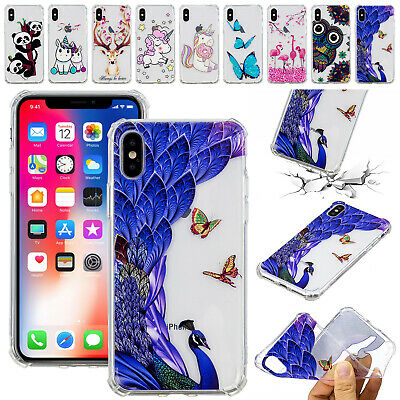 For iPhone 11 Pro Max 11 Pro Patterned Ultra Thin Rubber Clear Phone Case Cover