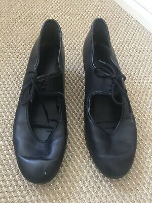 Black Size 4.5 Cuban Heel Tap Dancing Shoe