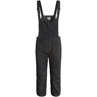 Men Insulated Waterproof White Sierra Bib black Snow Ski Pant Overalls Suit S M
