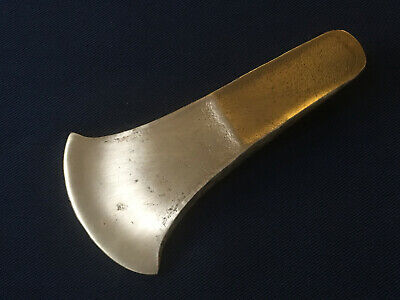 Bronze Age axe. hammered flange bronze flat axe, C 1450 BC. Reproduction