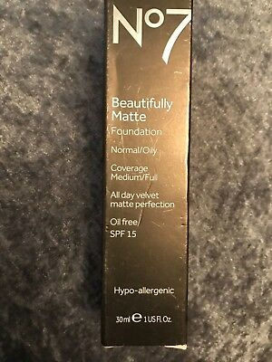 No7  beautifully matte Foundation spf 15  normal /oily  average medium/full