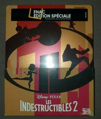 Les Indestructibles 2 - Steelbook Blu ray 3D+2D - Ed. spec. Fnac - Neuf