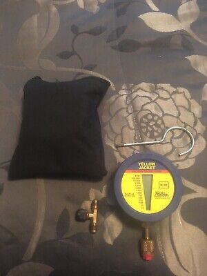 Yellow Jacket Digital LCD Vacuum Gauge with Pouch (69080) And T