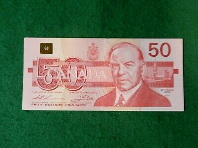 * Canadian 1988 series fifty dollar bank note, hard to find, nice shape