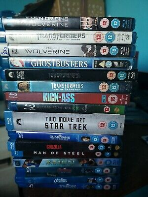 MARVEL BLU RAY MOVIE JOB LOT  x17 4 sealed batman etc