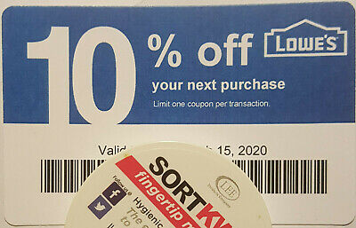 Lot of (100) LOWES Coup0ns 10% OFF At Competitors ONLY notLowes Exp OCT 15 2020