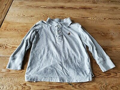 baby Gap toddler boy size 4T solid heather gray long sleeve polo shirt