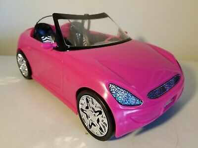 Barbie Mattel Convertible Sports Car Pink Glam Seats 2 (2009)