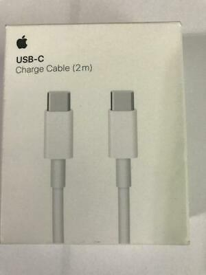Apple - 6.6' (2m) USB-C Charge Cable - White MLL82AM/A - A1739
