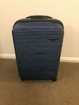 Sirocco Spinner Hard Shell Cabin Bag Suitcase Blue