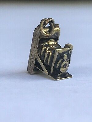 Sterling Silver 925 Vintage Antique Camera Photo Charm Pendant