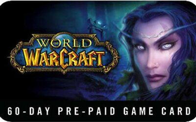 New! World Of Warcraft 60 Day Prepaid Code Email Delivery Free Shipping WOW