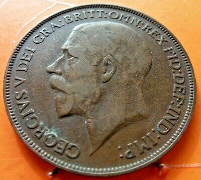 Dated 1926 One Penny 1d Coin King George V Great Britain in Very Fine grade (109