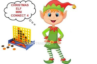 Elf Mini Connect 4 Accessory Ideas Game Props on the shelf ready for Christmas