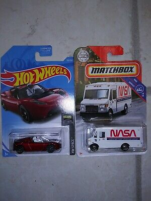 Hot Wheels Matchbox Space Tesla With Starman NASA Mission Support Moving Parts