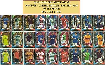 Topps SPFL Match Attax 2019/20 2020 100 clubs Man of the Match Limited Editions