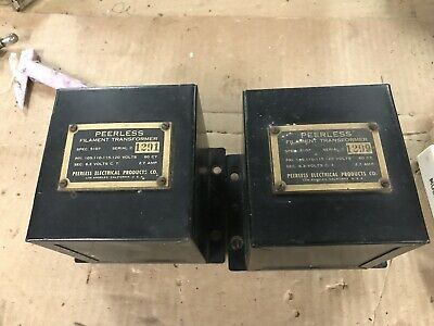 Peerless ~ Pair of Filament Transformers  6.3V  2.7A