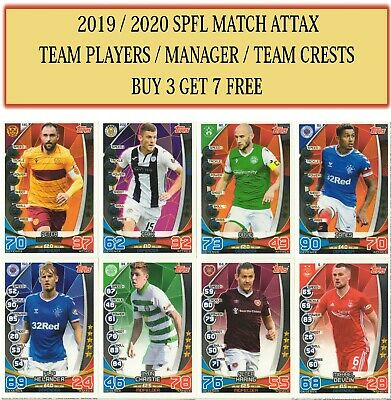 Topps SPFL Match Attax 2019/20 2020 Choose Team cards #217- #306