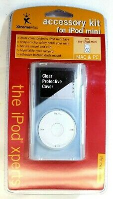 XtremeMac Accessory Kit For iPod Mini Clear Cover, Snap on Clip, Belt Clip
