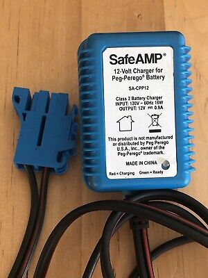 Peg Perego Charger Battery 12V AC Adapter Polaris John Deere SafeAMP SA-CPP12
