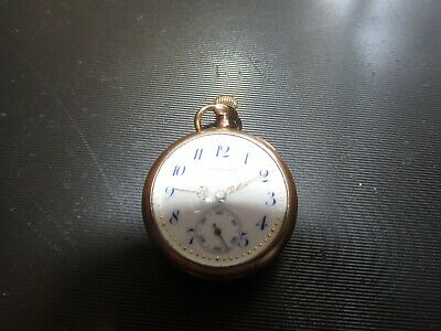 small mini longines  porcelain face pocket watch gold filled