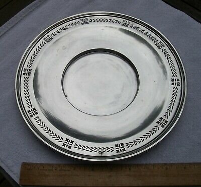 Vintage TIFFANY & CO Sterling PIERCED SERVING PLATE-10.5 INCH- 4.75 In Well-NR