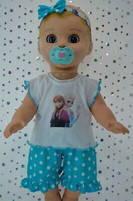 "Play n Wear Dolls Clothes For 17"" Luvabella Doll POLKA DOT PANTS~TOP~HEADBAND"