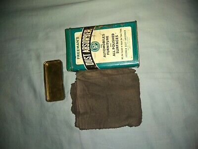 Vintage Freeman's Polishing Dust Absorber Cloth Tin Container