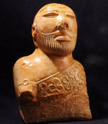 PRIEST-KING OF THE INDUS VALLEY Mohenjo Daro 2500 BC stone statue museum replica