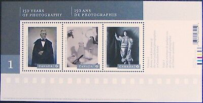 #2626 CANADA: Canadian Photography-1  MNH Souvenir Sheet of 3 Stamps