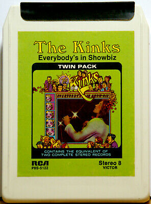 THE KINKS Everybody's In Showbiz  8 TRACK CARTRIDGE