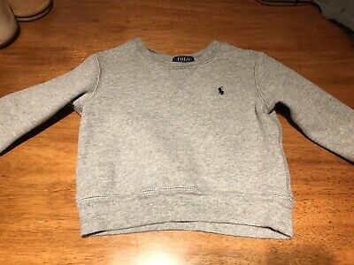 Gray Boys 2T Polo Ralph Lauren Pullover