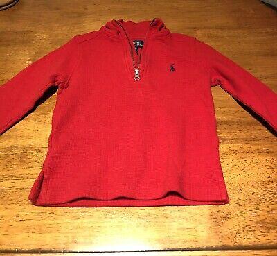 Red 2T Polo Ralph Lauren Boys Pullover