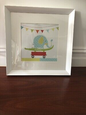 Med Picture White Frame Baby/ Nursery X2