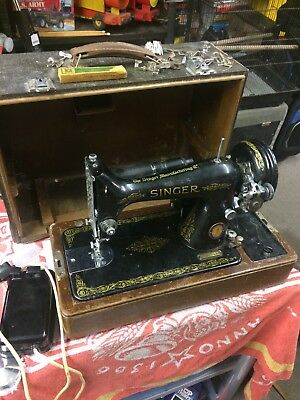 Singer Sewing Machine 99K 1950 Rarer  Limited Edition Blue Badge Version
