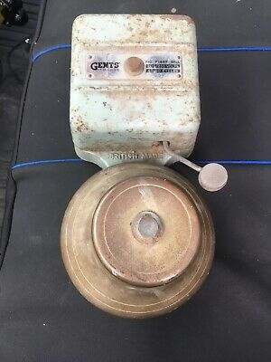 Vintage Fire Alarm Bell, Electric By Gent Of Leicester, Free Uk Postage