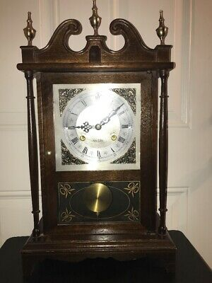 Vintage Centurion 35 Day Wall Clock W/key Solid Wood RARE! Gorgeous