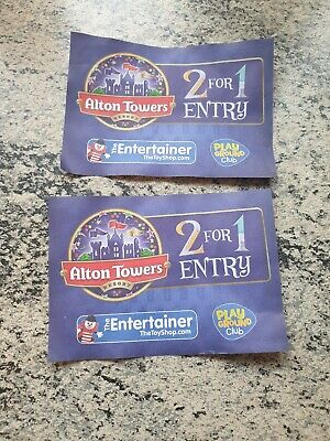 2 for 1 Entry voucher for alton towers, 2 tickets valid until 31/05/20