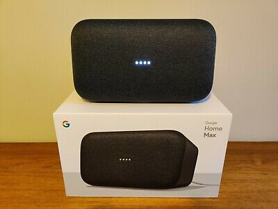 Google Home Max Wireless Extra Bass Charcoal Speaker with Google Assistant