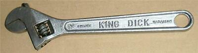 "Vintage King Dick 12"" Adjustable Spanner Wrench -Very Good Condition."