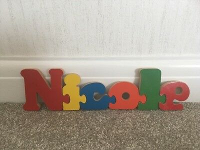 Wooden Jigsaw with name Nicole