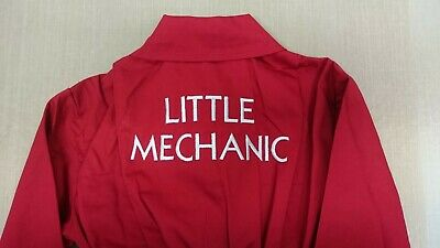 Little Mechanic Boiler Suit/ Kids Coveralls. Personalised with name on front