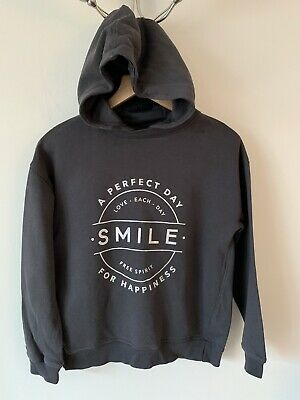 Girls Next Age 12 Grey Hoody Hoodie Hooded Jumper Smile