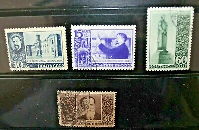 "Russia 1940 ""20° Anniversario Morte Timirjazev"" Timbrati Used Set (Cat.9)"
