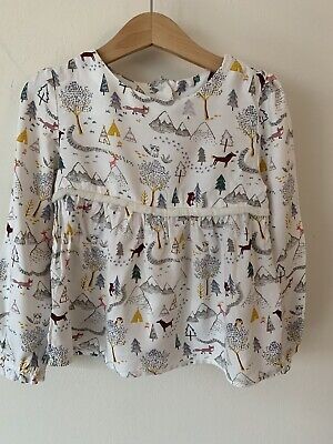 Girls Marks And Spencer Long Sleeve Winter Print M&S Age 4-5
