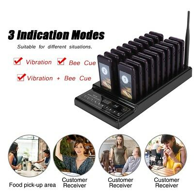 20Pcs Coaster Pager PagingWireless Calling System for Restaurant Shop Food Truck