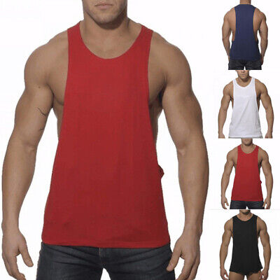 Gym Mens Muscle Sleeveless Tank Top T-Shirt Bodybuilding Sports Fitness Vests