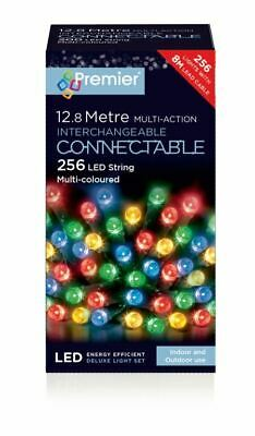 12.8m 256 Warm White LED String Multi-Action Interchangeable Connectable